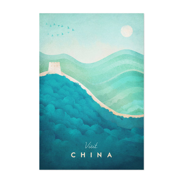 Minimal China Travel Poster Art Print