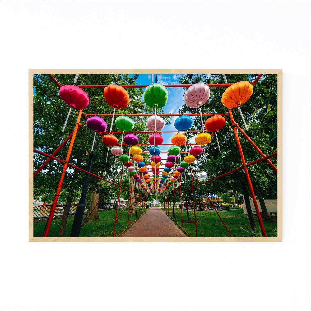 Philadelphia Chinese Lanterns Framed Art Print