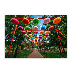 Philadelphia Chinese Lanterns Metal Art Print