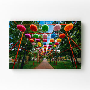 Philadelphia Chinese Lanterns Mounted Art Print