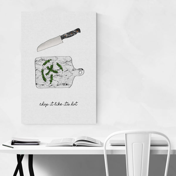 Kitchen Herb Knife Illustration Art Print