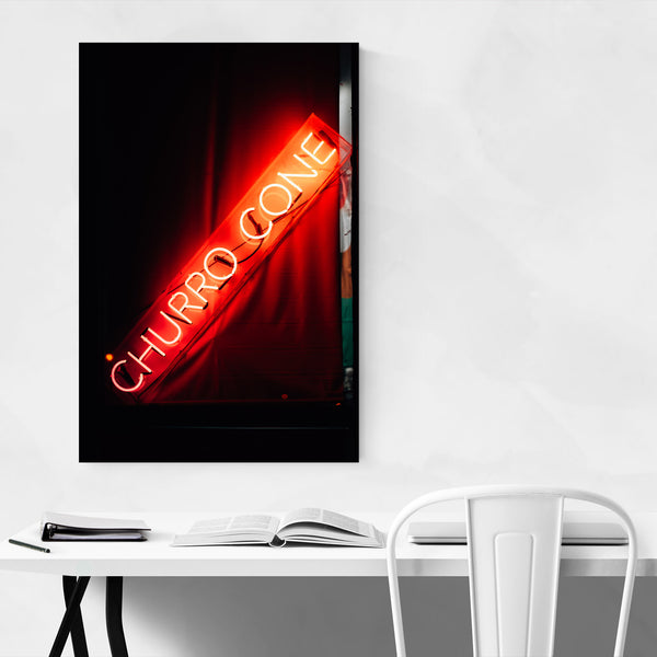 Churro Cone Neon Sign New York Art Print