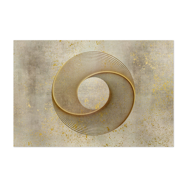 Circle Line Art Gold & Brown Art Print
