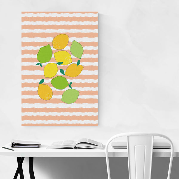 Lemon Lime Orange Fruit Kitchen Art Print