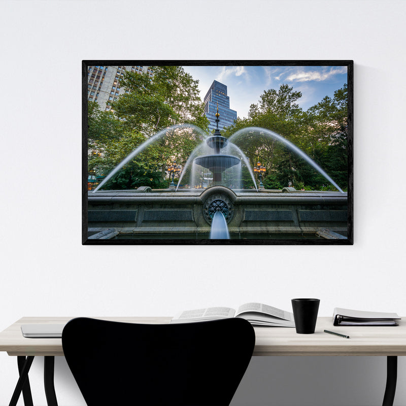 City Hall Park New York City Framed Art Print
