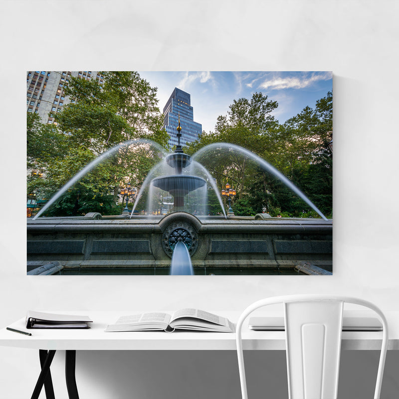 City Hall Park New York City Metal Art Print