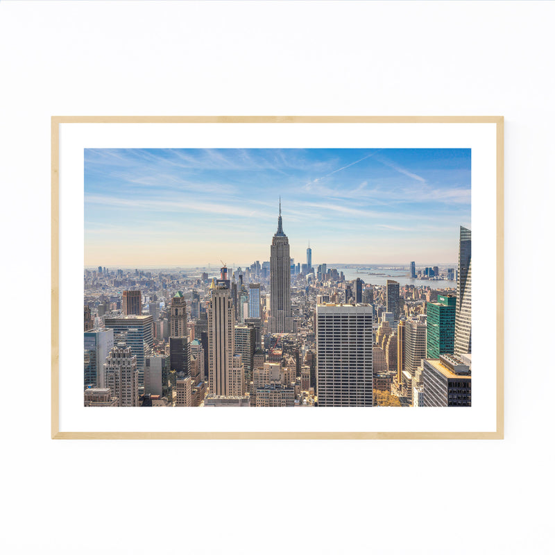 Empire State New York Skyline Framed Art Print