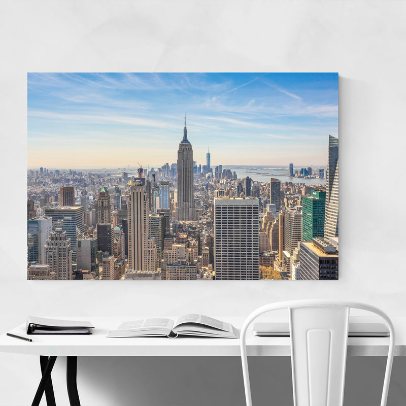 Empire State New York Skyline Metal Art Print