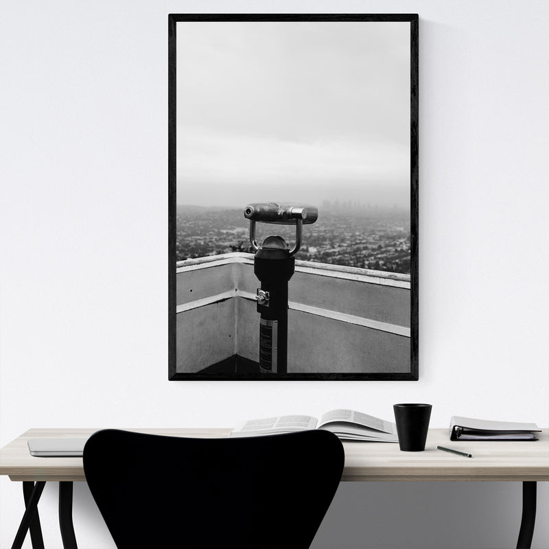 Griffith Park Los Angeles Hills Framed Art Print