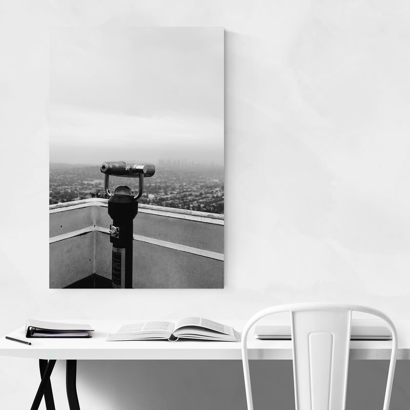 Griffith Park Los Angeles Hills Metal Art Print