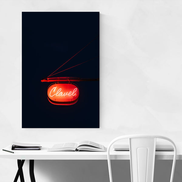 Clavel Sign Baltimore Maryland Art Print