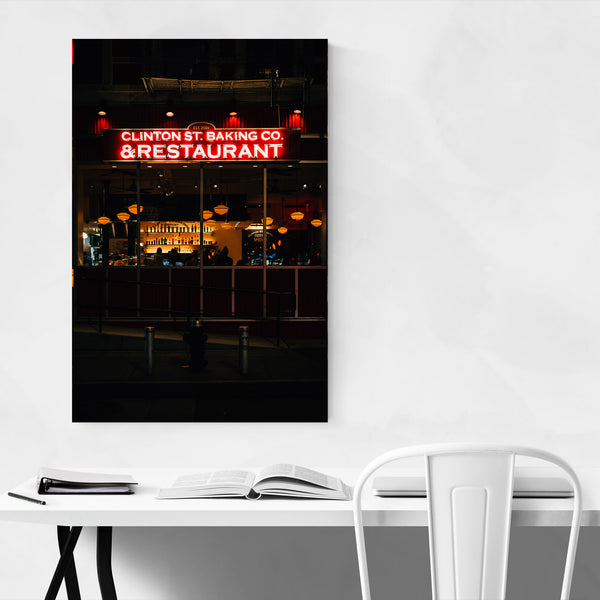 Restaurant Neon Sign New York Art Print