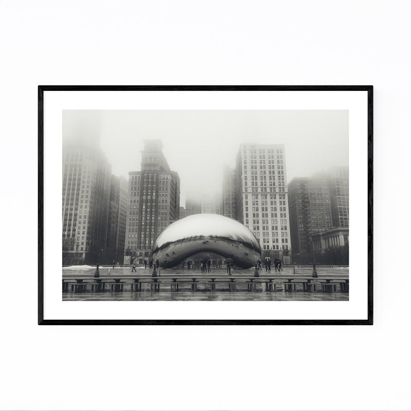 Bean Chicago Illinois Cityscape Framed Art Print