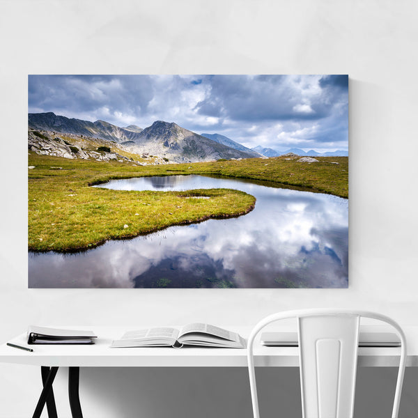 Bulgaria Mountain Lake Landscape Art Print