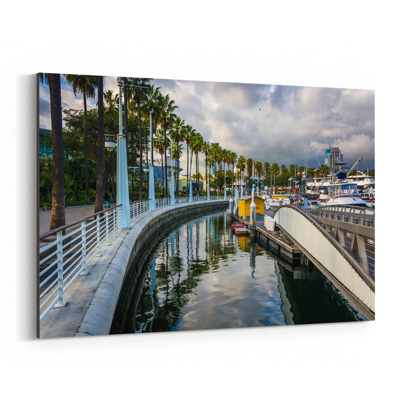 Long Beach California Marina Canvas Art Print