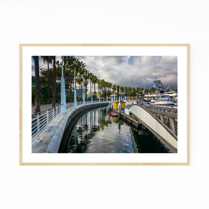 Long Beach California Marina Framed Art Print