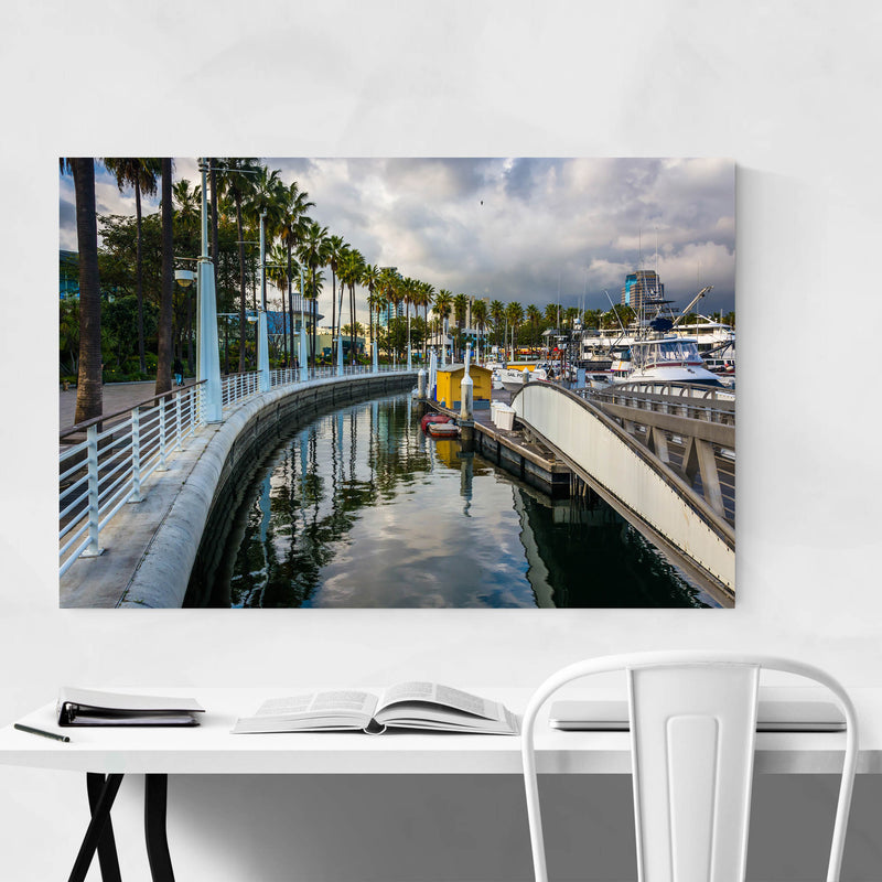 Long Beach California Marina Metal Art Print