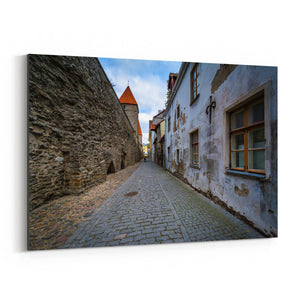 Tallinn Architecture in Old Town Canvas Art Print