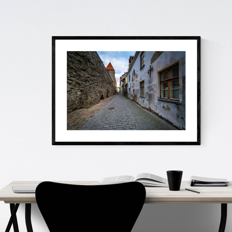 Tallinn Architecture in Old Town Framed Art Print