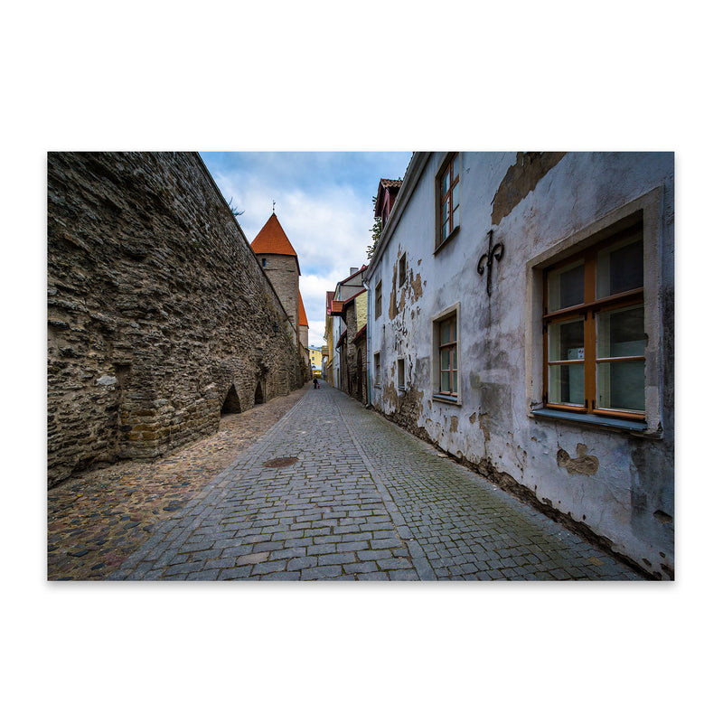 Tallinn Architecture in Old Town Metal Art Print