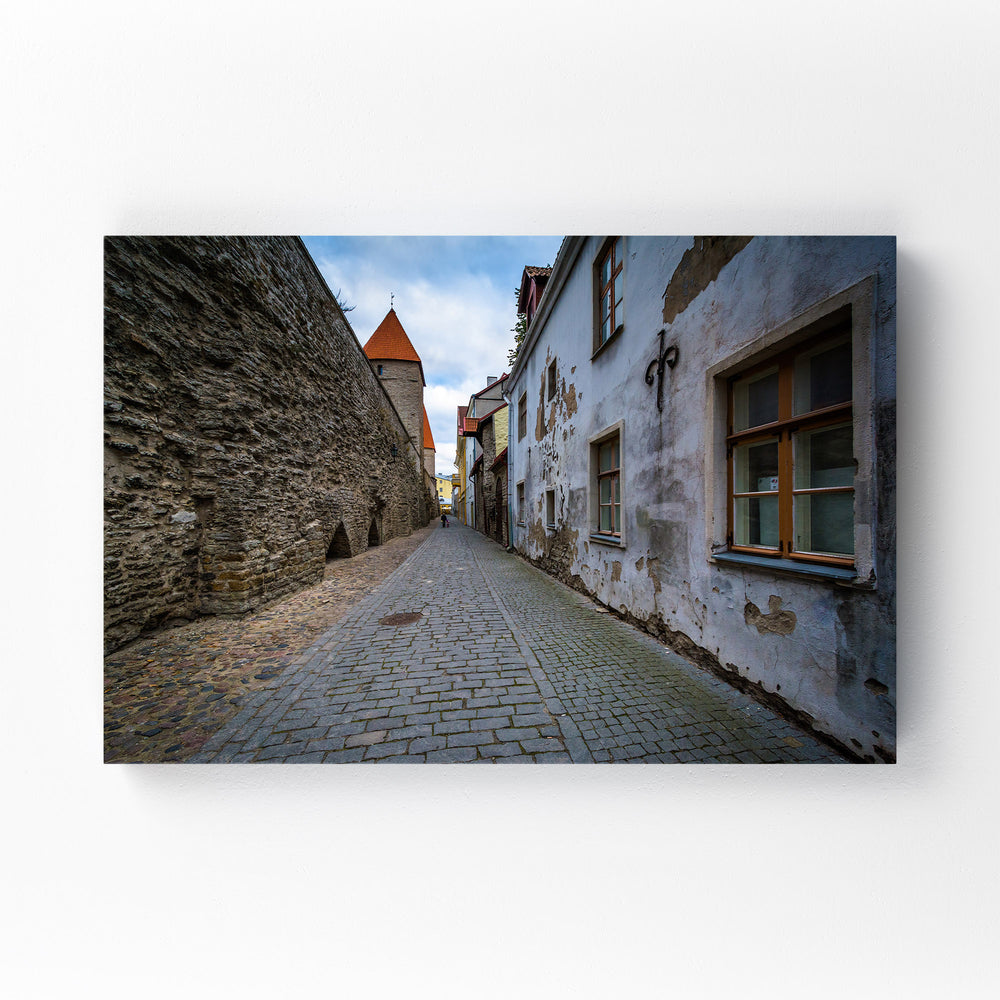 Tallinn Architecture in Old Town Mounted Art Print