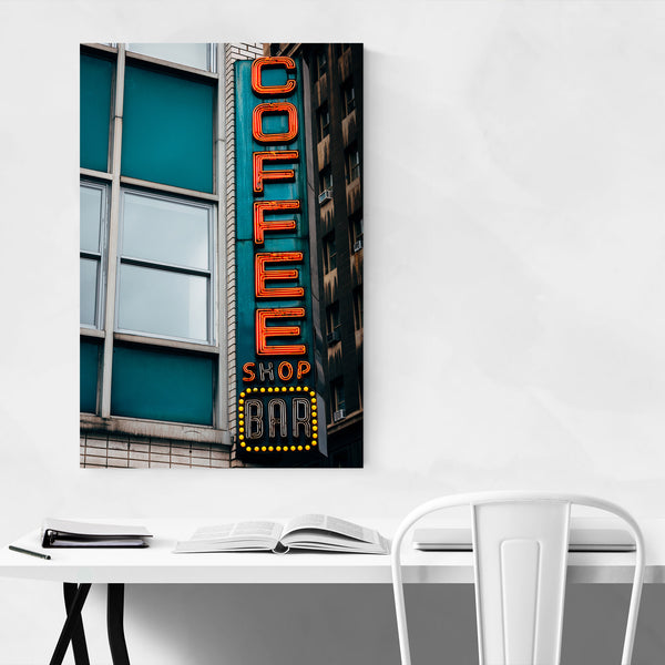 Coffee Shop Bar Vintage Sign NYC Art Print