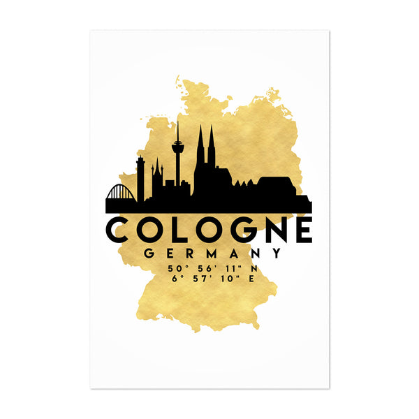 Minimal Cologne Skyline Art Print