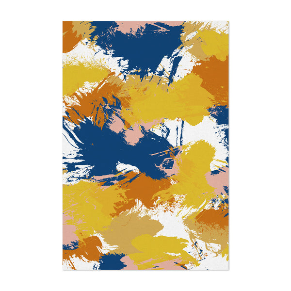 Abstract Watercolor Splatter Art Print