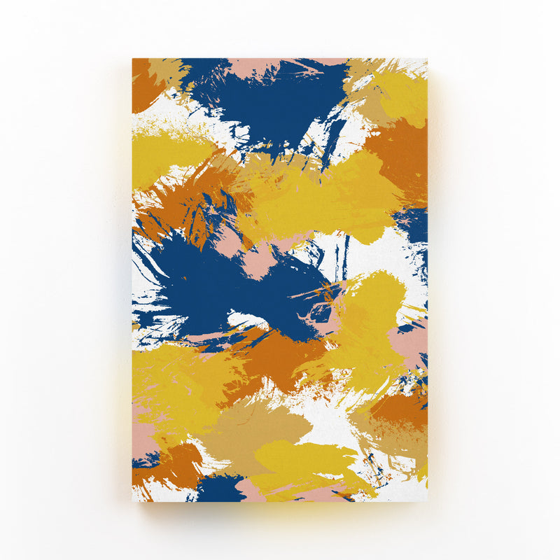 Abstract Watercolor Splatter Canvas Art Print