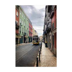 Colorful Streets Lisbon Portugal Art Print