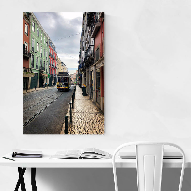 Colorful Streets Lisbon Portugal Metal Art Print