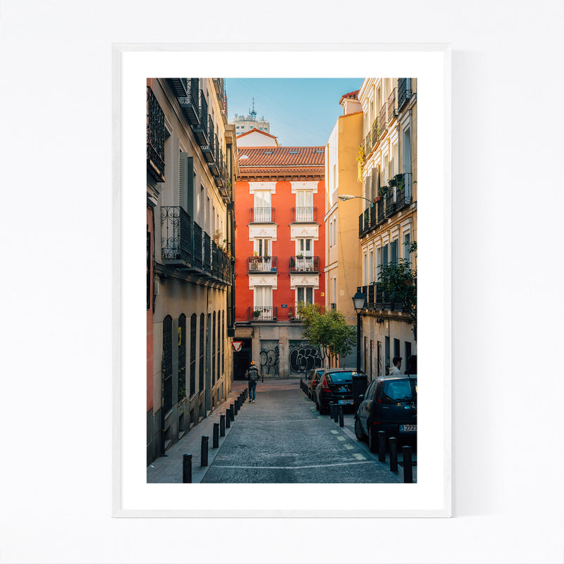 Madrid Spain Malasana Colorful Framed Art Print