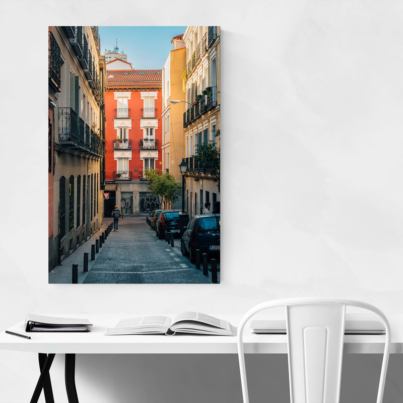 Madrid Spain Malasana Colorful Canvas Art Print
