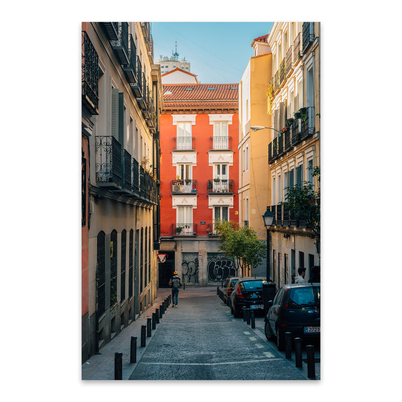 Madrid Spain Malasana Colorful Metal Art Print