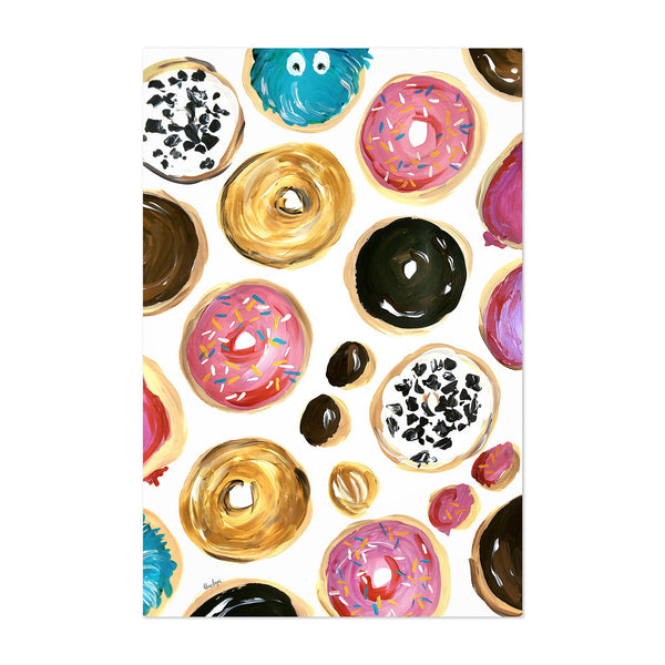 Donut Food Kitchen Illustration Art Print