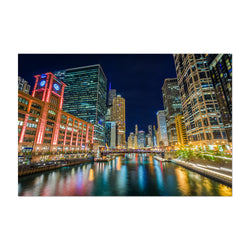 Chicago River Skyline Cityscape Art Print