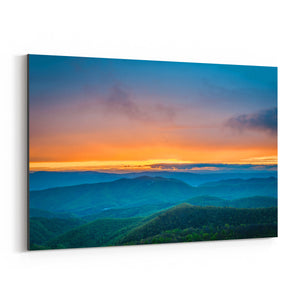 Shenandoah Blue Ridge Mountains Canvas Art Print