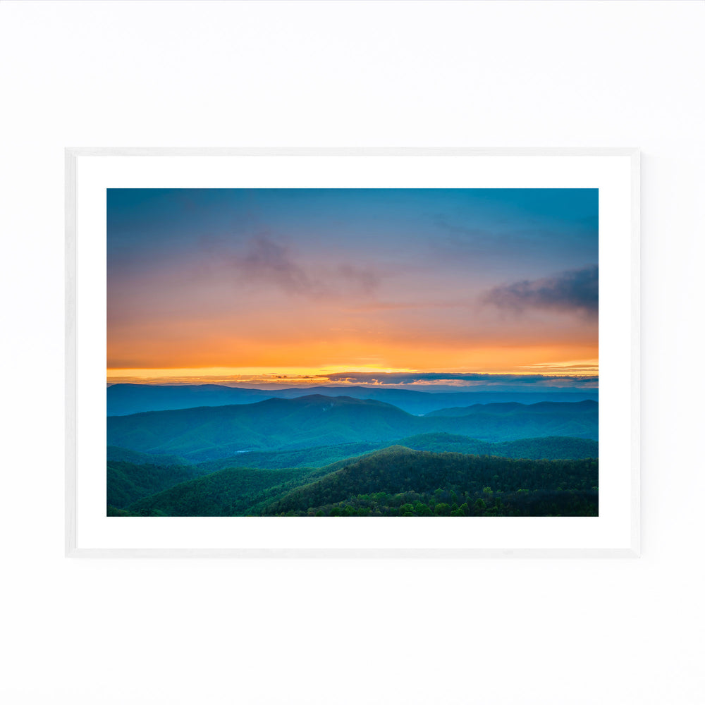 Shenandoah Blue Ridge Mountains Framed Art Print