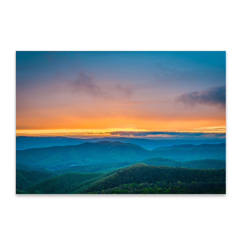 Shenandoah Blue Ridge Mountains Metal Art Print