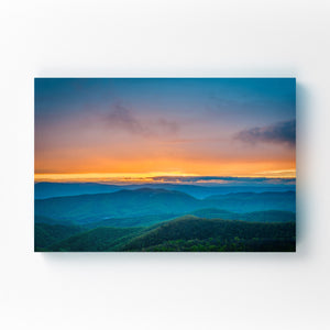 Shenandoah Blue Ridge Mountains Mounted Art Print