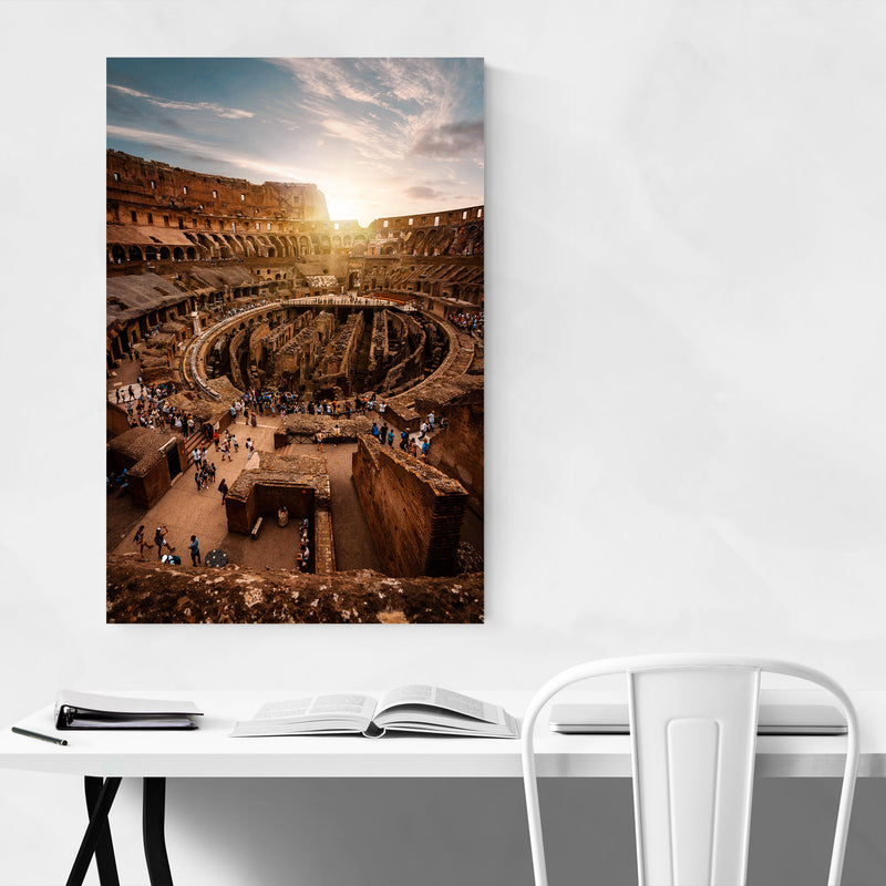 Colosseum Rome Italy Europe City Canvas Art Print