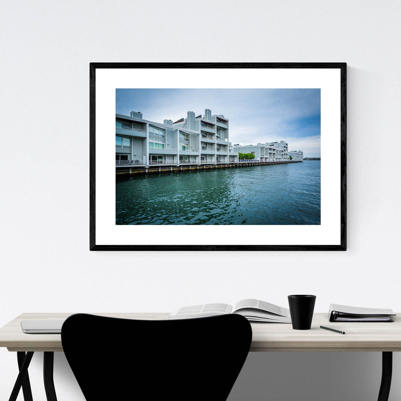 Boston Charlestown Waterfront Framed Art Print