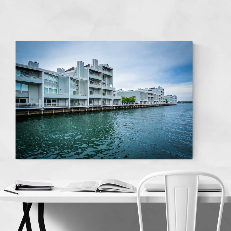 Boston Charlestown Waterfront Metal Art Print