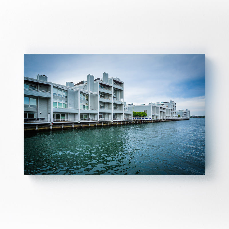 Boston Charlestown Waterfront Canvas Art Print