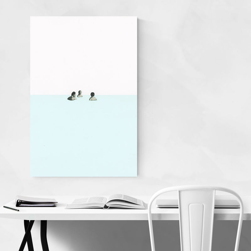 Abstract Geometric Swimming  Metal Art Print
