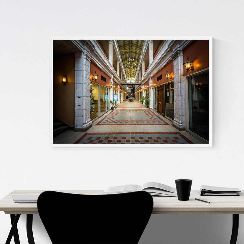 Columbia Interior Architecture Framed Art Print