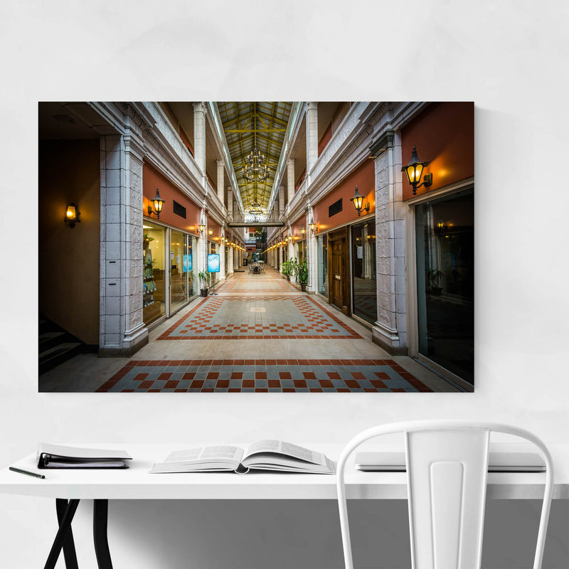 Columbia Interior Architecture Metal Art Print