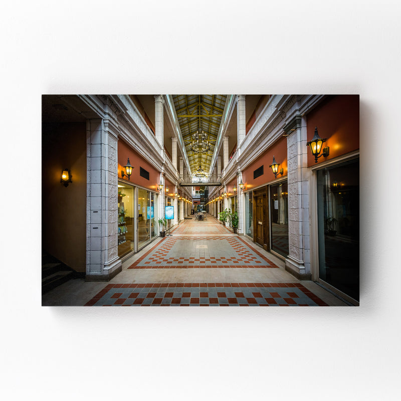 Columbia Interior Architecture Canvas Art Print