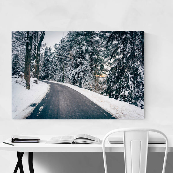 Maryland Snow Winter Countryside Art Print