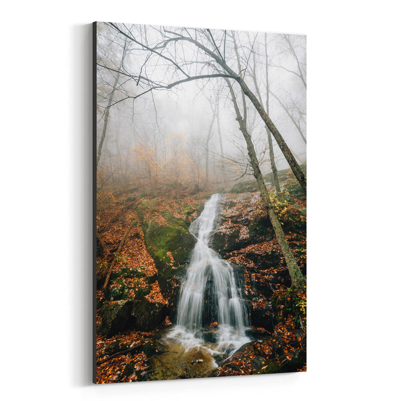 Crabtree Falls Virginia Autumn Canvas Art Print